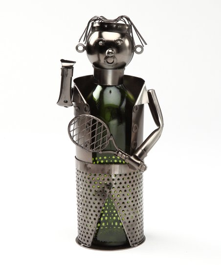Tennis Metal Wine Bottle Holder