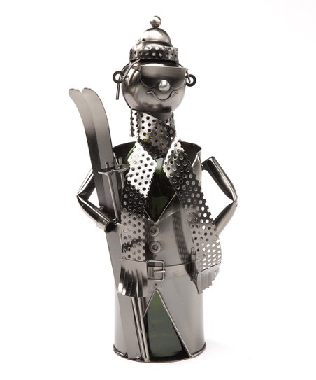 Ski Metal Wine Bottle Holder
