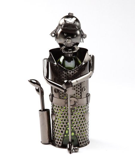 Golf Metal Wine Bottle Holder