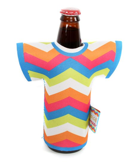 Zigzag Tropical T-Shirt Wine Bottle Cover
