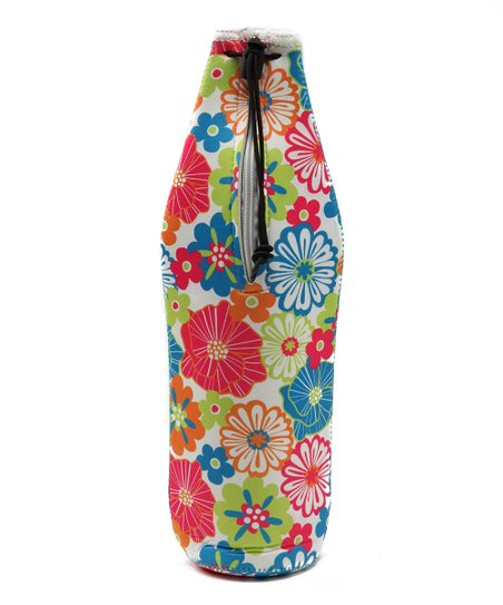 Floral Wine Bottle Bag