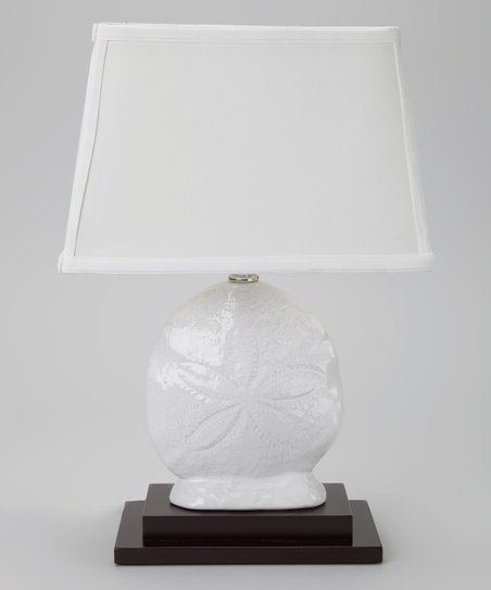 White Sand Dollar Lamp