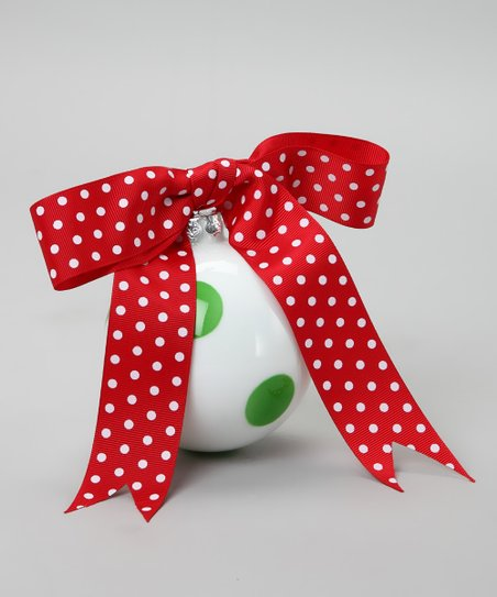 Green Dot Ribbon Ornament