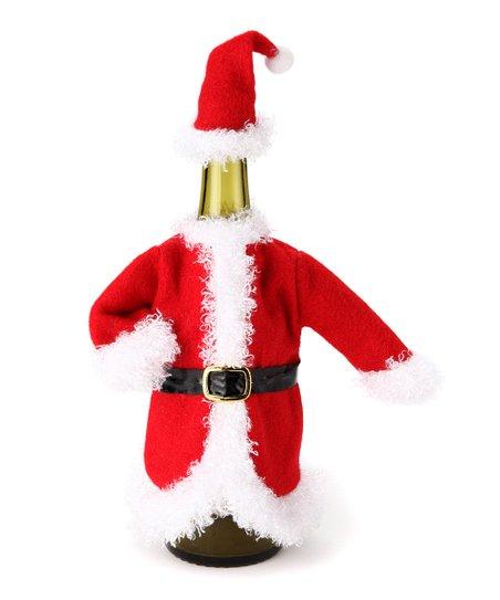 Santa Fleece Bottle Cover Set