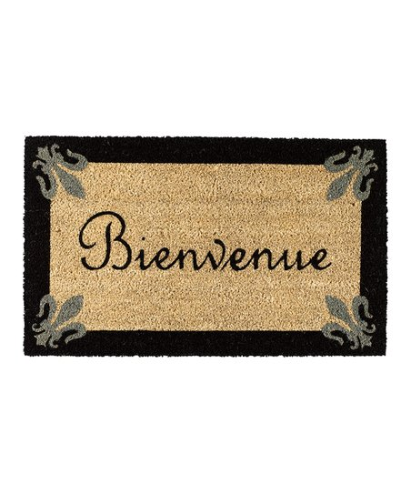 Fleur-de-Lis &#039;Bienvenue&#039; Doormat