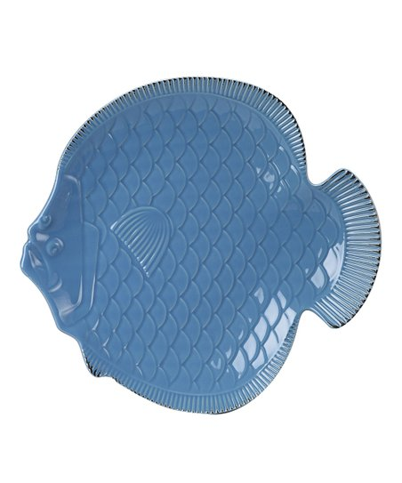 Blue Nautical Fish Platter