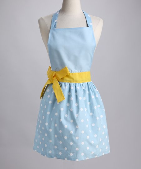 Design Imports Bluebell Polka Dot Apron - Adult