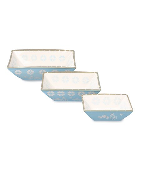 Crystal Blue Serving Dish Set