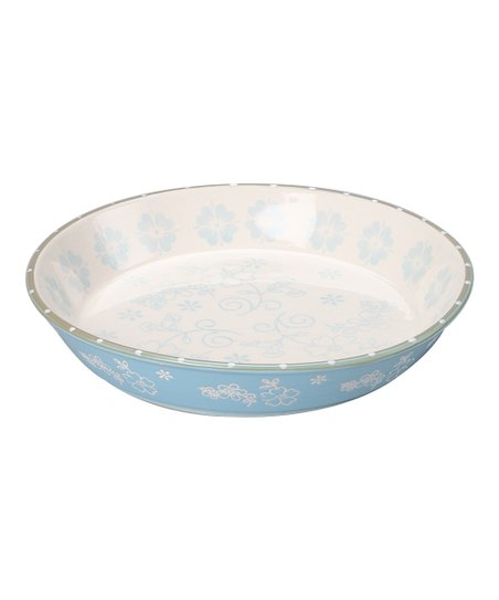 Crystal Blue Pie Plate