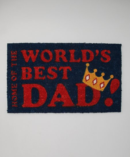 'World's Best Dad!' Doormat