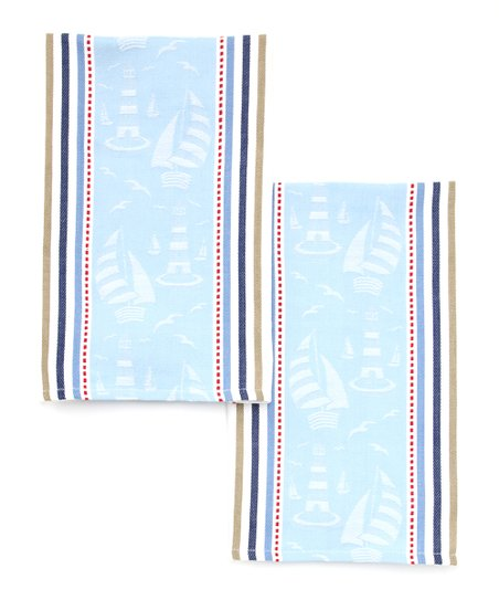 Sailing Jacquard Dish Towel - Set of Two