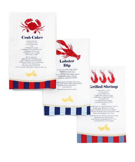 Seafood Cocktail Recipe Dish Towel Set