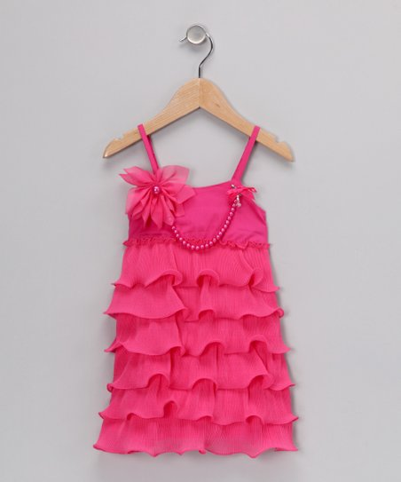 Hot Pink Ruffle Dress