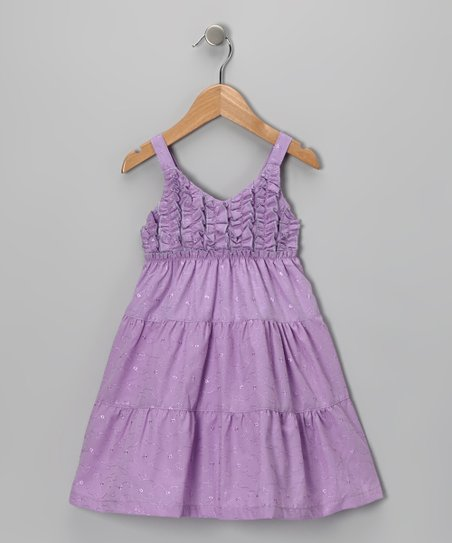 Purple Ruffle Dress - Toddler