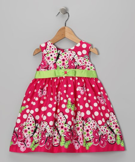 Di Vani Rose & Lime Floral Dress