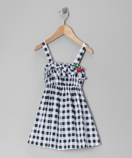 Black Gingham Dress - Toddler & Girls