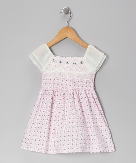 Pink Floral Rhinestone Dress - Toddler &amp; Girls