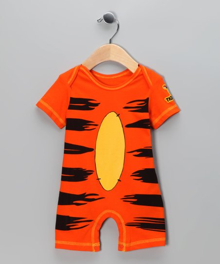 Orange Tigger Romper - Infant