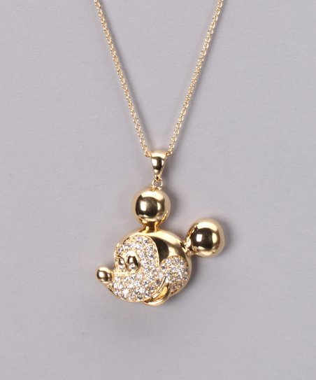 Gold & Crystal Mickey Necklace