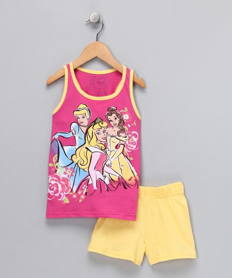 Pink & Yellow Princess Tank & Shorts - Infant