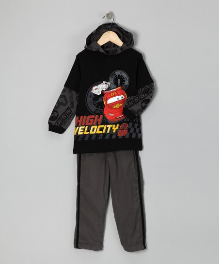 Black Cars 'High Velocity' Hoodie & Pants - Infant & Toddler