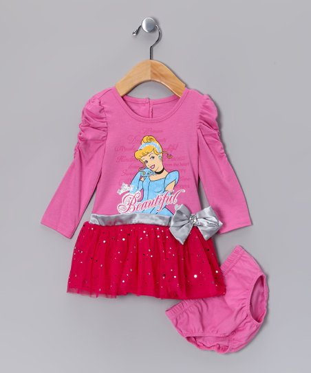Pink Cinderella Dress & Diaper Cover - Infant