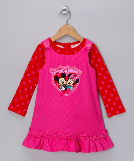 Dark Pink Minnie 'Sweethearts' Jumper & Top