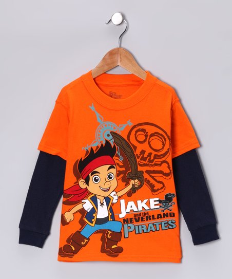 Orange 'Jake' Layered Tee - Toddler