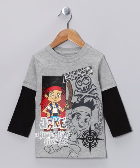Gray Jake 'Ahoy' Layered Tee - Toddler