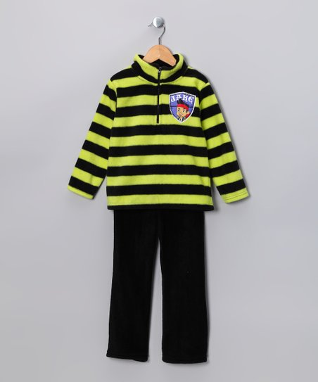 Green Stripe 'Jake' Pullover & Pants - Toddler