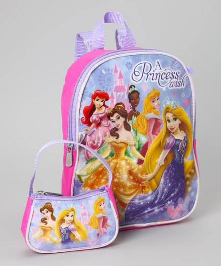 Pink & Purple 'Princess Wish' Backpack & Coin Purse