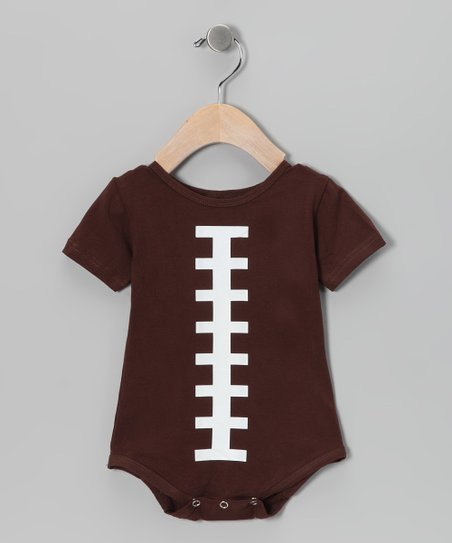 Brown Football Short-Sleeve Bodysuit - Infant
