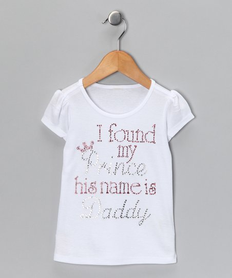 White 'I Found my Prince' Rhinestone Tee - Infant, Toddler & Girl