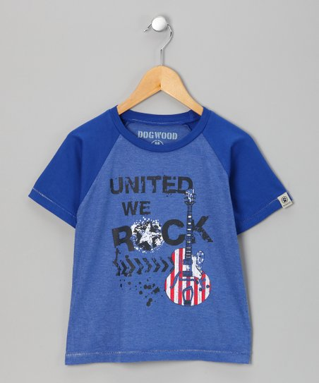 Marine &#039;United We Rock&#039; Raglan Tee - Boys