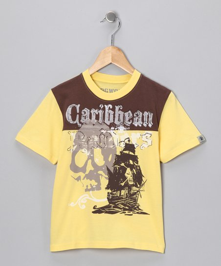 Yellow 'Caribbean Raiders' Tee - Infant, Toddler & Boys