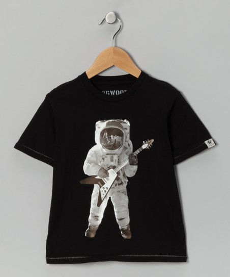 Black Space Guitar Tee - Boys