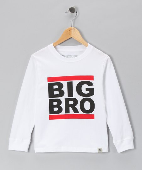 White 'Big Bro' Tee - Infant, Toddler & Boys