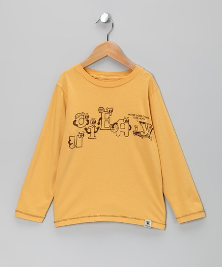 Gold Vowels Tee - Infant, Toddler & Kids