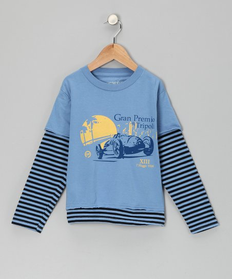 Blue 'Gran Premio' Layered Tee - Toddler & Boys