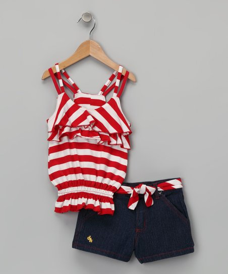 Red Racerback Tank &amp; Shorts - Infant &amp; Girls