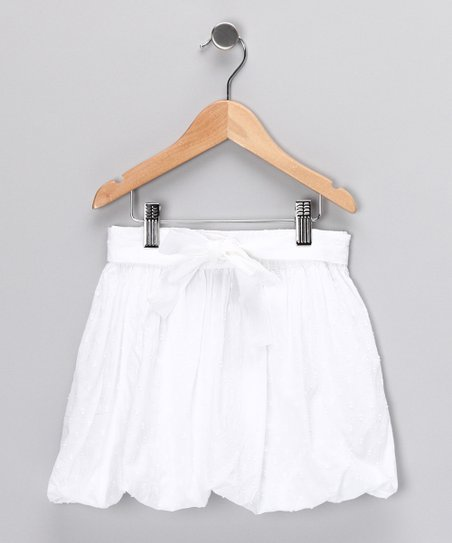 White Bubble Skirt - Girls