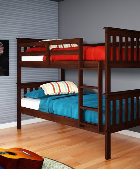 Cappuccino Mission Twin Bunk Bed