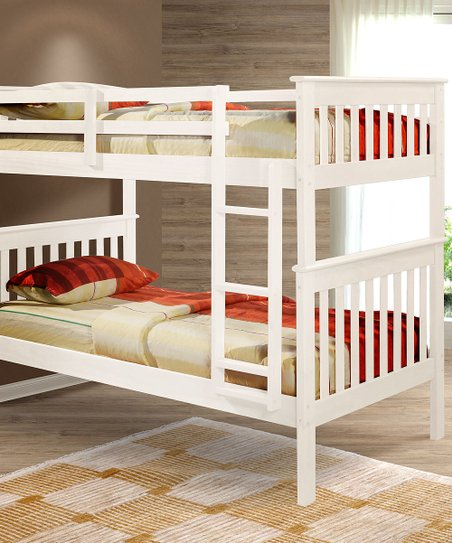 White Mission Twin Bunk Bed
