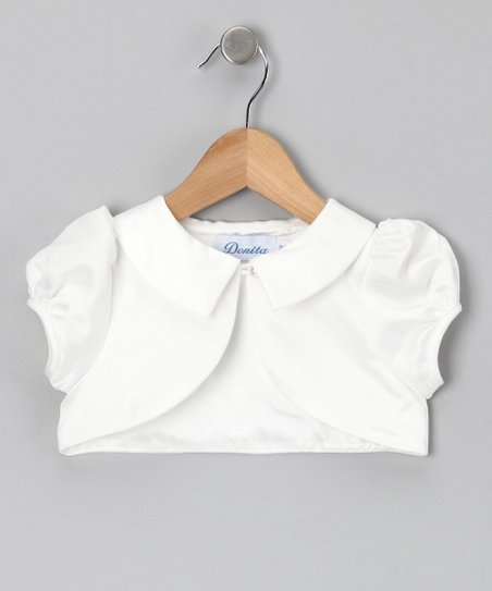 Ivory Collar Shrug - Infant, Toddler & Girls