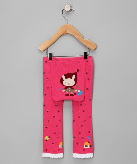 Pink Snowflake Riding Hood Leggings