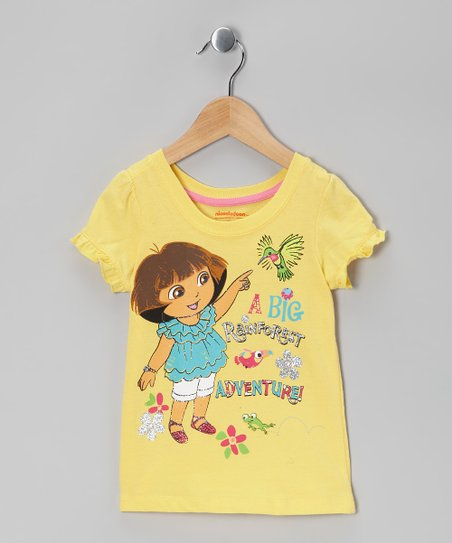 Yellow Dora 'Adventure' Tee - Toddler