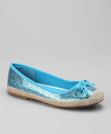 Dotty Shoes Turquoise Connor Flat