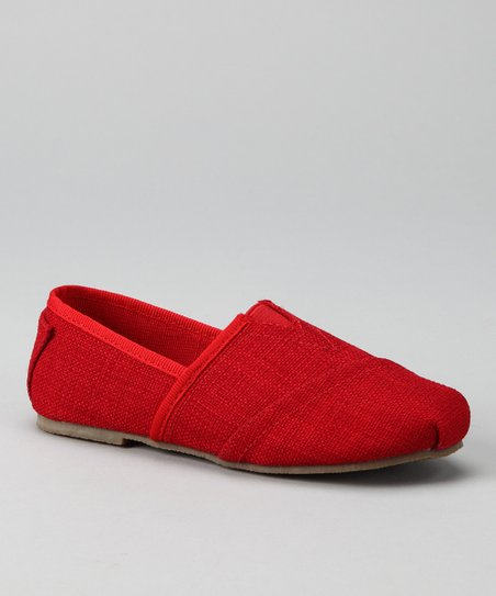 Red Estonia Slip-On Shoe