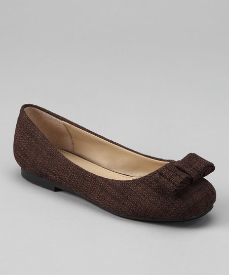 Dotty Shoes Brown Joby Ballet Flat