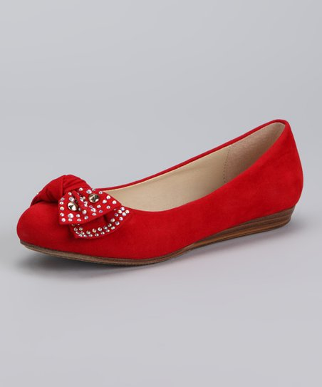 Dotty Shoes Red Jerry Ballet Flat